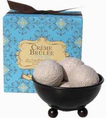 Gianna Rose Atelier Boxed Cr?me Brulee Truffle Soap & Dish - Hampton Court Essential Luxuries