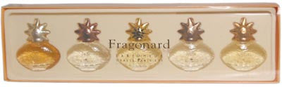 Fragonard Gift Box of Five Miniatures Collection