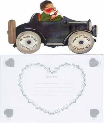 Valentine's Day Greeting Card - I'm Right There With The Speed