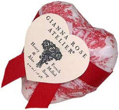 Gianna Rose Atelier Honey & Aloe Heart Soap - Red Toile - Hampton Court Essential Luxuries
