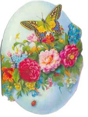Easter Greeting Card - 3D Easter Egg with Garland & Butterflies - Hampton Court Essential Luxuries