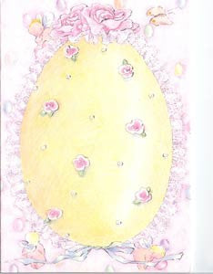 Easter Greeting Card - Ruffled Easter Egg