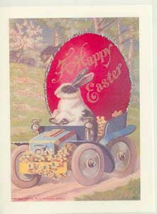 Easter Greeting Card - A Happy Easter Glitter Card