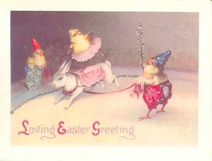 Easter Greeting Card - Loving Easter Greeting Glitter Card