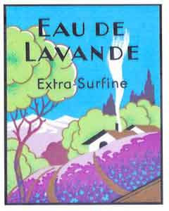 All Occasion Greeting Card - Eau de Lavande Vintage Label