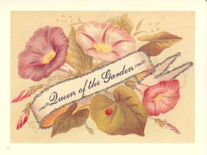 All Occasion Greeting Card - Queen of the Garden Glitter Card