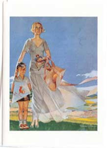 All Occasion Greeting Card - Nostalgic Mother & Son with Kite