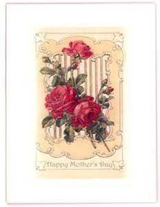 Mother's Day Greeting Card - Happy Mother's Day Sparkle Card - Long Stemmed Roses