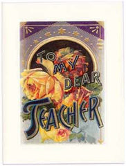 All Occasion Greeting Card - To My Dear Teacher Sparkle Card - Hampton Court Essential Luxuries