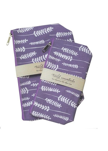 Mangiacotti Lavender Travel Essential Cosmetic Bags