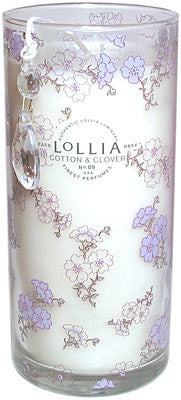 Lollia Relax Tall Cotton and Clover Luminary Candle