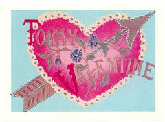 Valentine's Day Greeting Card - To My Valentine Heart Glitter Card - Hampton Court Essential Luxuries