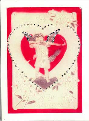 Valentine's Day Greeting Card - To My Valentine Cherub Glitter Card