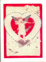 Valentine's Day Greeting Card - To My Valentine Cherub Glitter Card - Hampton Court Essential Luxuries