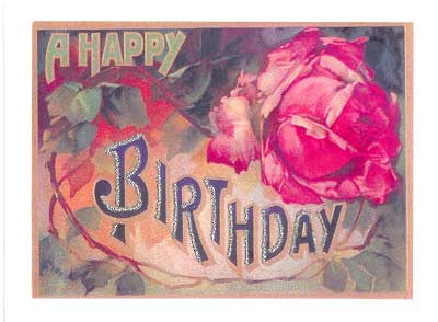 Birthday Greeting Card - A Happy Birthday Glitter Card