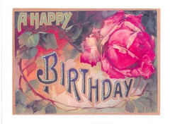 Birthday Greeting Card - A Happy Birthday Glitter Card - Hampton Court Essential Luxuries