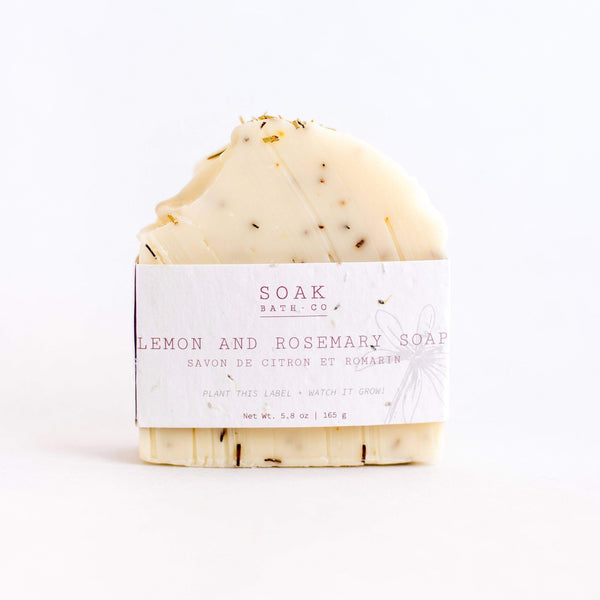 SOAK Bath Co. - Lemon and Rosemary Soap