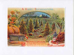 Thanksgiving Greeting Card - A Happy Thanksgiving Sparkle Card - Hampton Court Essential Luxuries