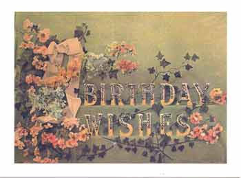 Birthday Greeting Card - Birthday Wishes Glitter Card