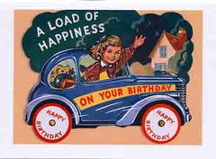 Birthday Greeting Card - A Load of Happiness on Your Birthday - Hampton Court Essential Luxuries