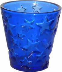Candle Accessory - Cobalt Blue Votive Holder with Stars - Hampton Court Essential Luxuries
