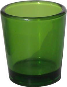 Candle Accessory - Green Glass Votive Holder