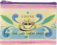 Blue Q Coin Purse - Coffee Money