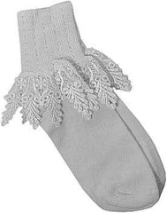 Catherine Cole Studio Lace Cuff Sock - Silver - Hampton Court Essential Luxuries