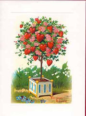 Valentine's Day Greeting Card - Tree of Hearts Sparkle Card