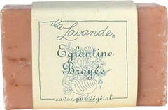 La Lavande Broyee Soap - Eglantine (Wild Rose) - 100gm - Hampton Court Essential Luxuries