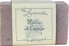 La Lavande Broyee Soap - Pear & Black Currant - 100gm - Hampton Court Essential Luxuries