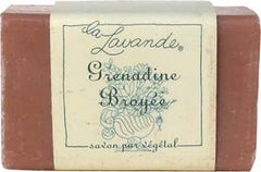 La Lavande Broyee Soap - Grenadine and Pomegranate - 100gm - Hampton Court Essential Luxuries
