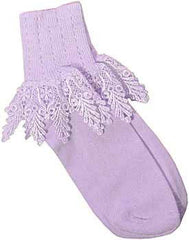 Catherine Cole Studio Lace Cuff Sock - Orchid - Hampton Court Essential Luxuries