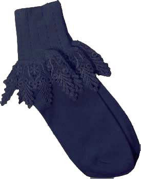 Catherine Cole Studio Lace Cuff Sock - Navy