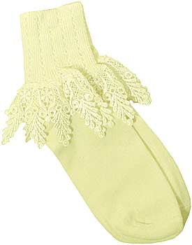 Catherine Cole Studio Lace Cuff Sock - Cornsilk