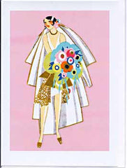All Occasion Greeting Card - Art Deco Bride - Hampton Court Essential Luxuries