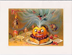 Halloween Greeting Card - Party Pumpkin Sparkle Card