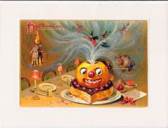 Halloween Greeting Card - Party Pumpkin Sparkle Card - Hampton Court Essential Luxuries