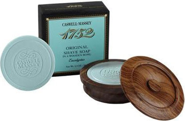 Caswell Massey 1752 Original Eucalyptus Shave Soap in a Wooden Bowl