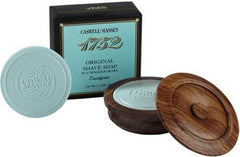 Caswell Massey 1752 Original Eucalyptus Shave Soap in a Wooden Bowl - Hampton Court Essential Luxuries