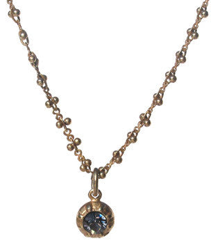 La Vie Parisienne Delicate Necklace with Black Diamond Crystal