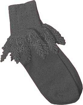 Catherine Cole Studio Lace Cuff Sock - Charcoal
