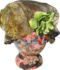 Fancy Shower Cap - Shimmery Green - Hampton Court Essential Luxuries