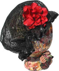 Fancy Shower Cap - Elegant Black - Hampton Court Essential Luxuries