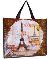 Accents Chic Shopping Bag - Paris Vintage Postcard - Hampton Court Essential Luxuries