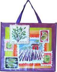 Accents Chic Shopping Bag - Lavender Vignette - Hampton Court Essential Luxuries