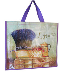 Accents Chic Shopping Bag - Lavender Bunch - Hampton Court Essential Luxuries