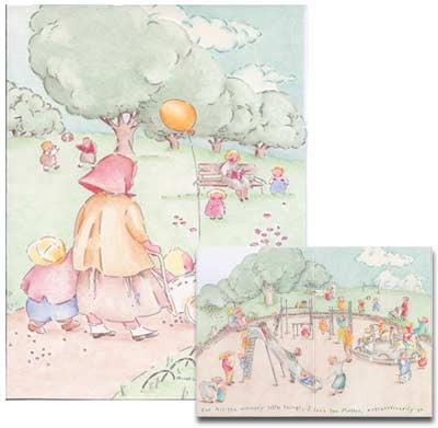Mother's Day Greeting Card - Mother Walking in the Park
