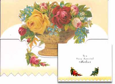 Mother's Day Greeting Card - Basket of Flowers