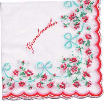 Vintage-Inspired Hanky - Grandmother Hanky with Scalloped Border